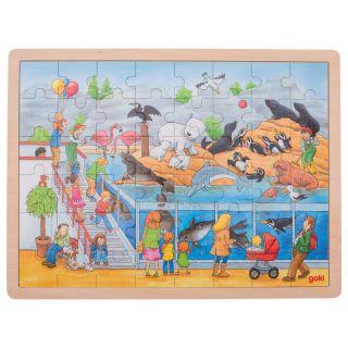 Wooden Puzzle - Zoo, 48pcs.