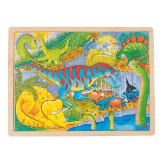 Wooden Jigsaw Puzzle - Dinos, 48st.