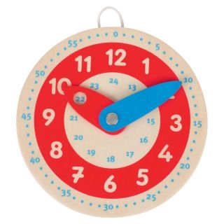 Wooden leather clock