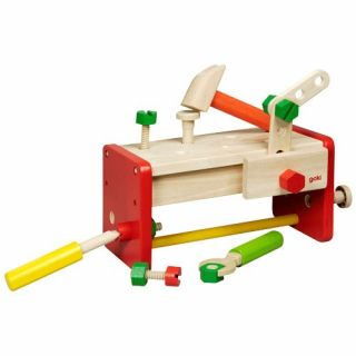 Wooden Work Bench and tool box 2 in 1
