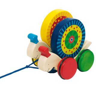 Wooden Pull Animal Snails race