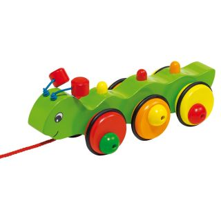 Wooden Pull Animal Tracked