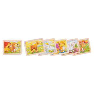 Wooden puzzles animals, set of 6