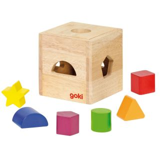 Wooden Sorting cube with Blocks
