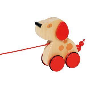Wooden Pull Animal Dog