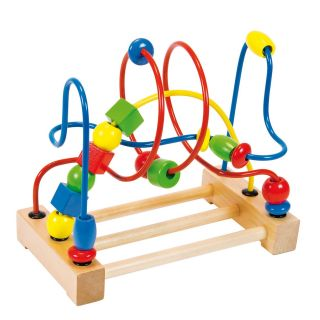 Motor skills spiral with wooden beads