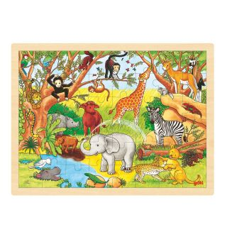 Wooden jigsaw puzzle-Jungle, 48st.