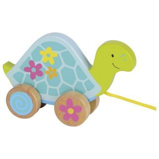 Susibelle Wooden Turtle Pull Animal