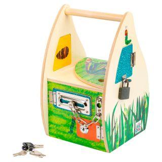 Caterpillar Never Enough Wooden Lock Box