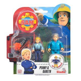 Fireman Sam Toy Figures - Penny and Gareth