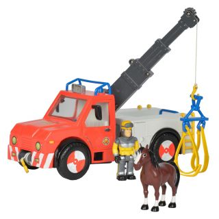 Firefighter Sam Phoenix with Toy Character and Horse