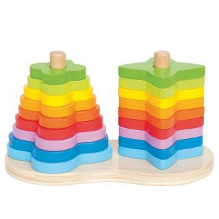 Hape Pile Tower Rainbow