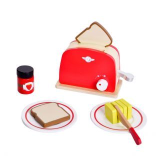 Classic World Wooden Toaster, 12 pcs.