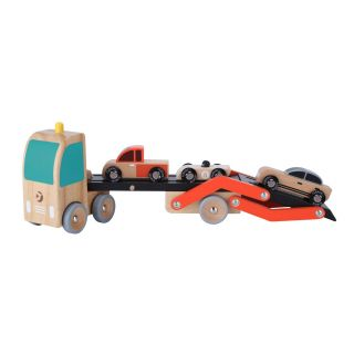 Classic World Car Transporter with Cars, 4 pcs.