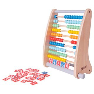 Classic World Wooden Abacus with Counting Cards