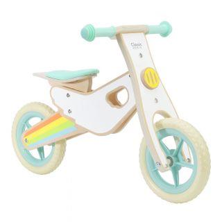 Classic World Wooden Balance Bike Rainbow