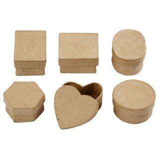 Storage boxes Papier maché Small, 6pcs.