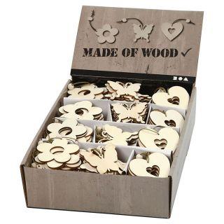 Decorate your Wooden Decoration, 200pcs.