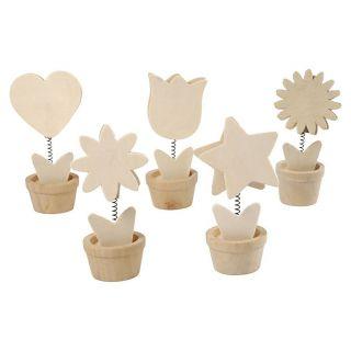 Decorate your Wooden Memoclip Flower, 10pcs.