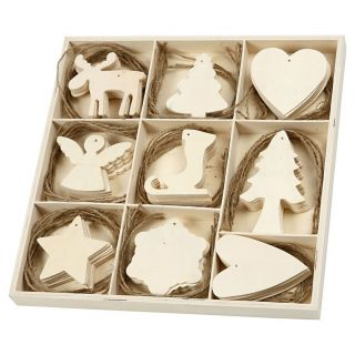 Decorate your Wooden Christmas Pendants, 72st.