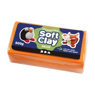 Soft Clay - Neon Orange, 500gr.