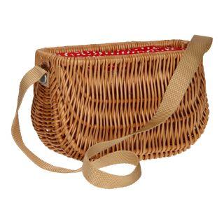 Wicker basket with sling
