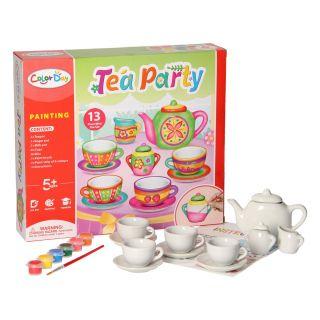 Paint your own Tea set XL, 13 pcs.