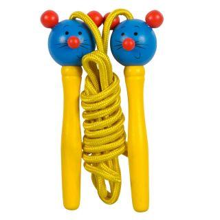 Jump Rope Animal Wood Yellow