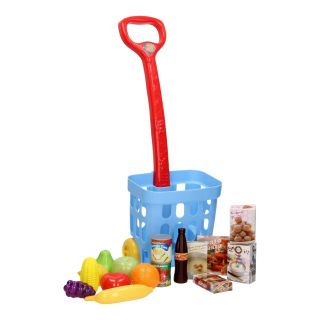Playgo Shopping basket with Groceries, 17 pcs.