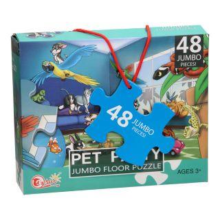 Floor Puzzle XL Pets Party, 48pcs.