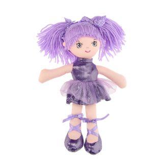 Rag doll Girl, 30 cm - Purple