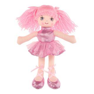 Rag doll Girl, 30 cm - Light pink