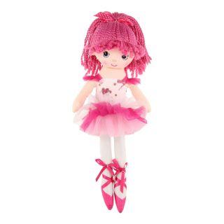 Rag doll Ballerina, 40 cm - Pink