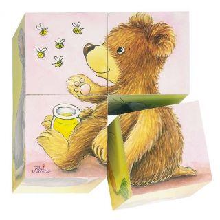 Petit Puzzle de cubes bébés animaux